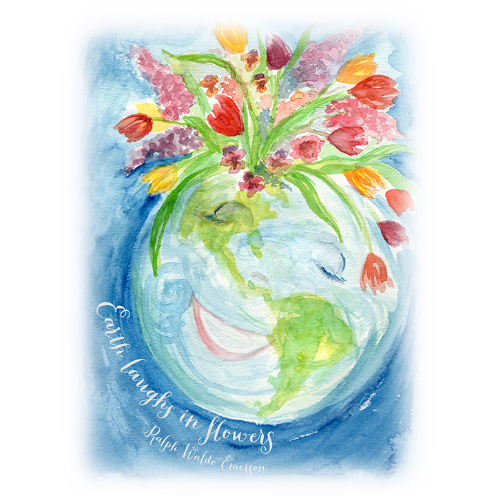 Earth Art Print by Erin Nowak